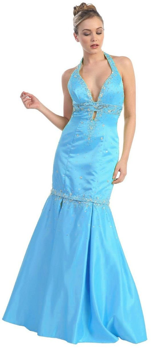 Ice Blue Homecoming Dresses Under 50 Discount New Style Long Prom