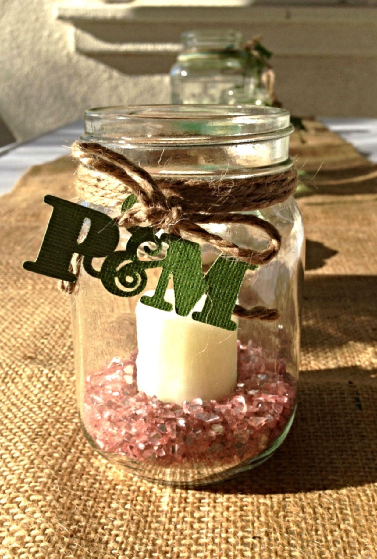 Diy wedding shower decorations  DIY Bridal Shower Mason Jar Decor  Party Ideas  Pinterest  Jars