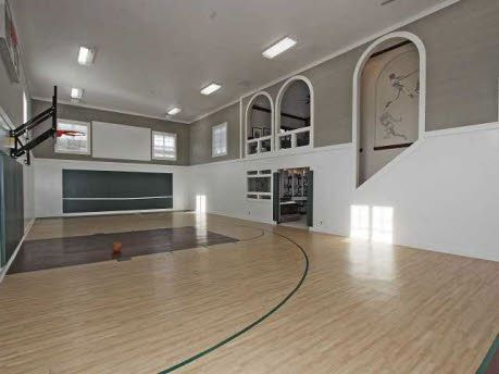 Celebrity House Pictures Celebrity Homes Basketball Room Home Basketball Court Indoor Basketball
