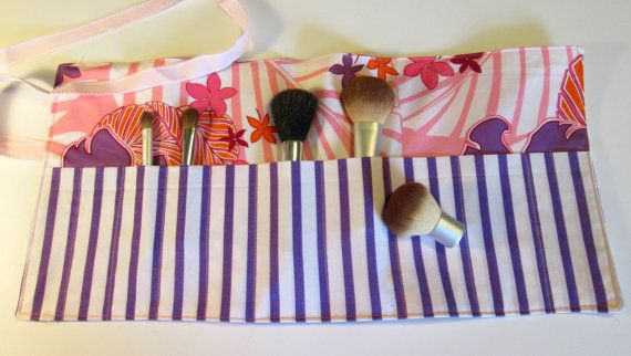 Christmas In July Makeup Brush Roll Organizer/Craft Storage/Artist Brush Roll/Pencil case