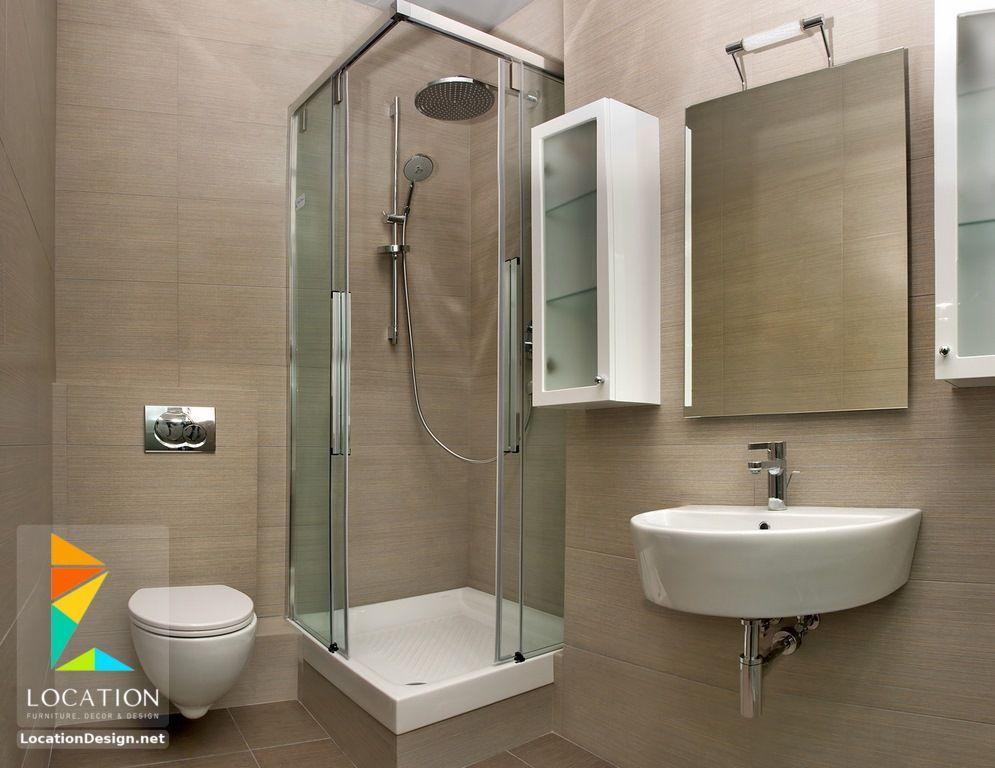 ديكورات حمامات صغيرة المساحة 50 تصميم حمامات مودرن بأفكار رائعة جدا Small Bathroom With Shower Bathroom Layout Simple Bathroom
