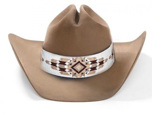 01738fee13dc7 Cheyenne Native American Style Extra Wide Hat Band Beaded Hatband ...