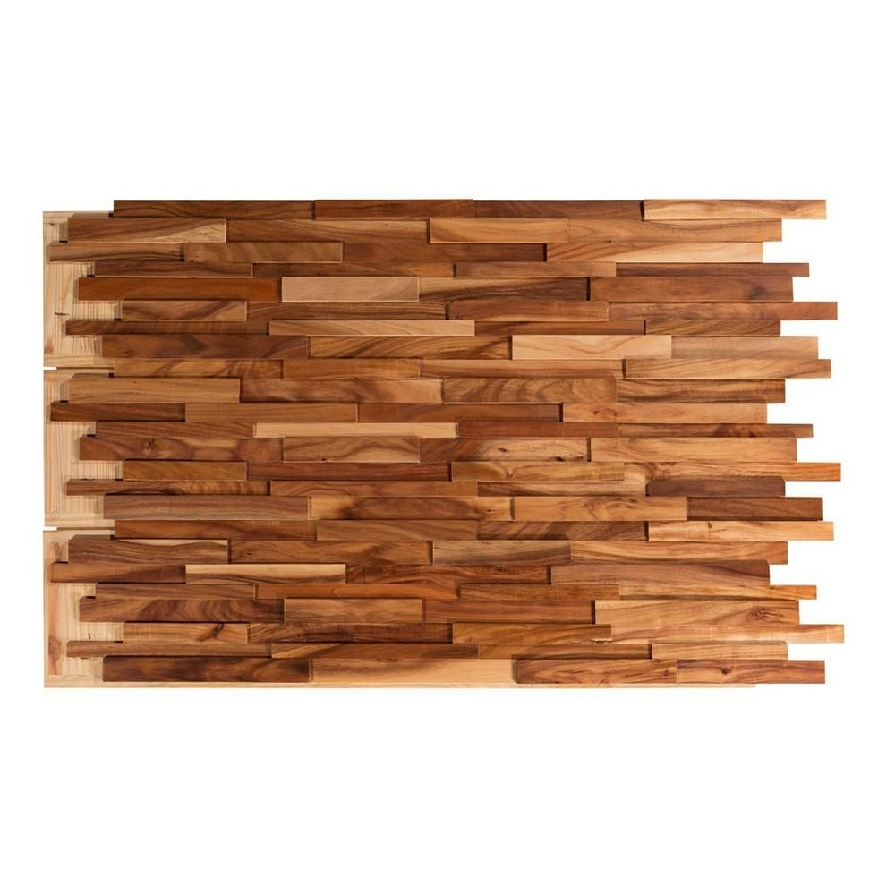Dimensional Small Leaf Acacia Wall Wood Panel