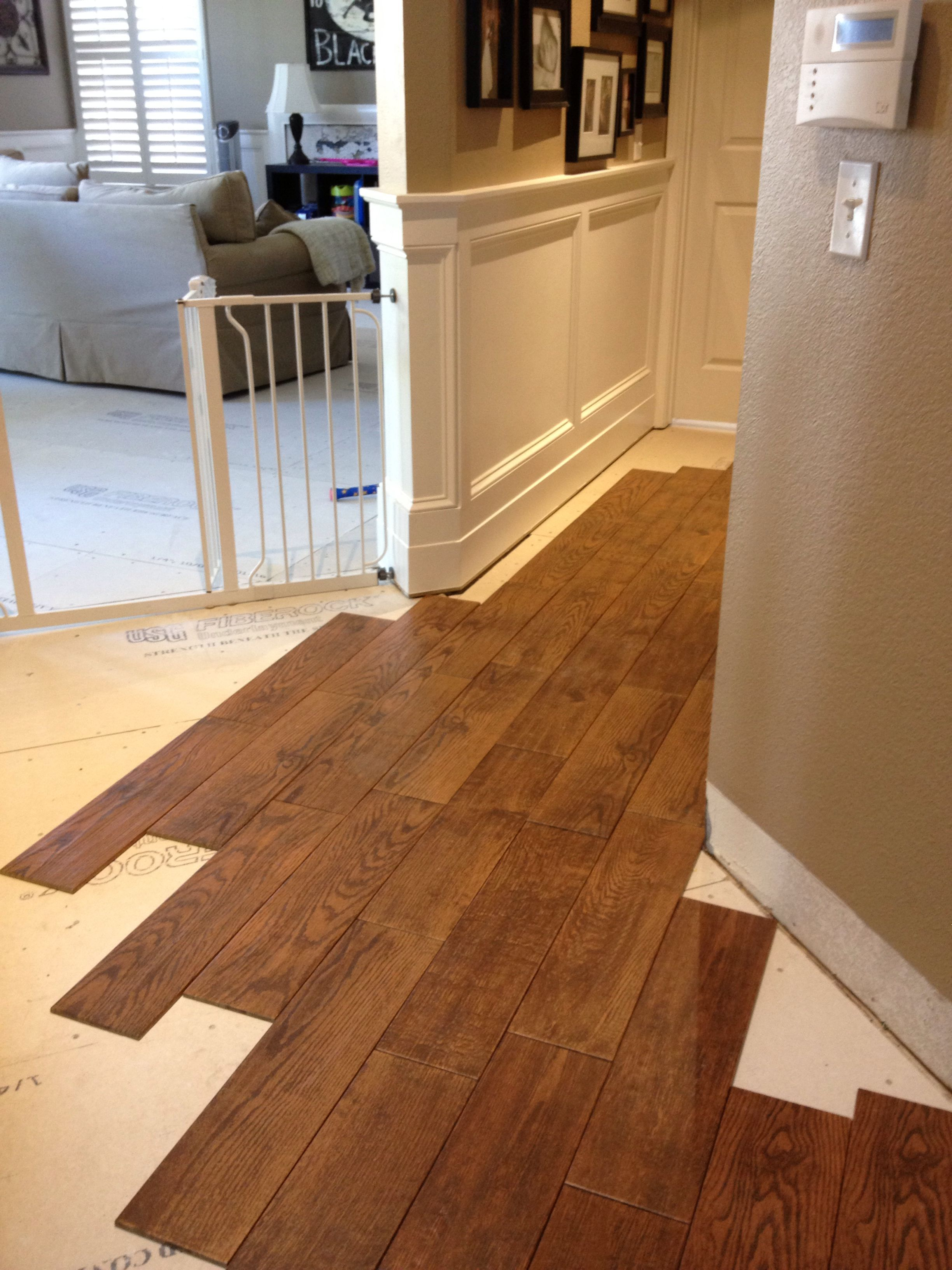 Wood looking tile Basementflooringideas House flooring