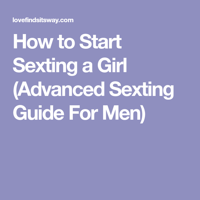 best way to initiate sexting