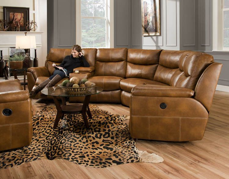 American Made Monaco Reclining Sectional Sofa Bonded Leather Or Microfiber Southernmotion Transitional