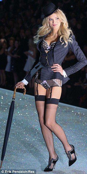 7fa58d5087c Model Lily Donaldson walks the runway at the 2013 Victoria s Secret Fashion  Show