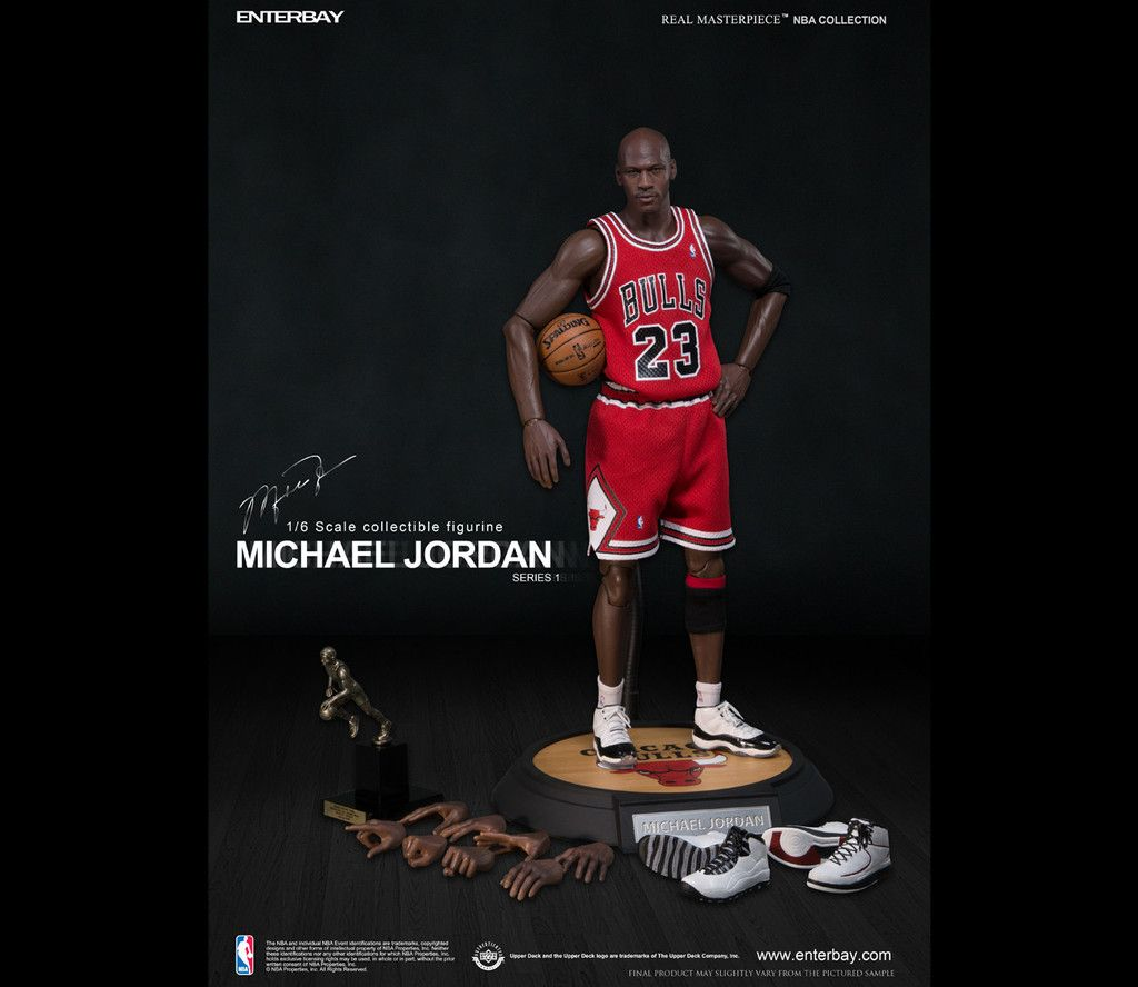 Custom 1//6 Scale Set of 3 Michael Jordan Jersey For Enterbay NBA FIgure Body
