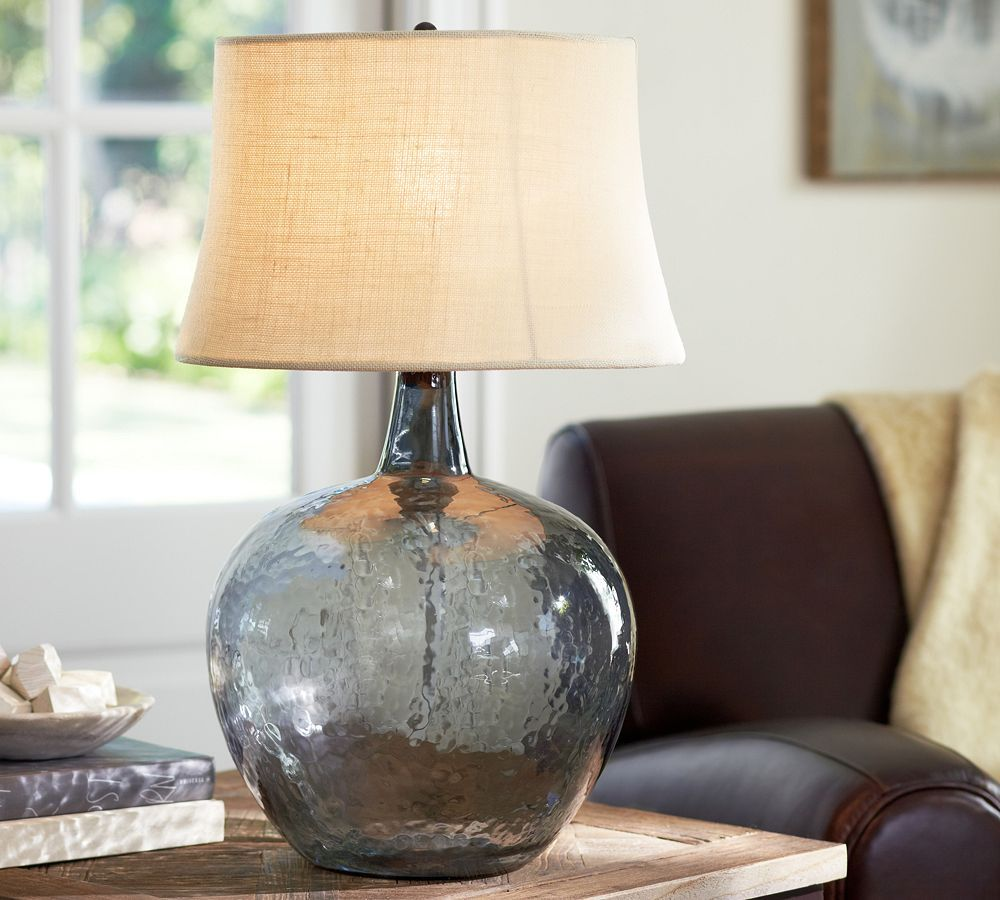 Clift glass table lamp base smoke grey inspire my interior