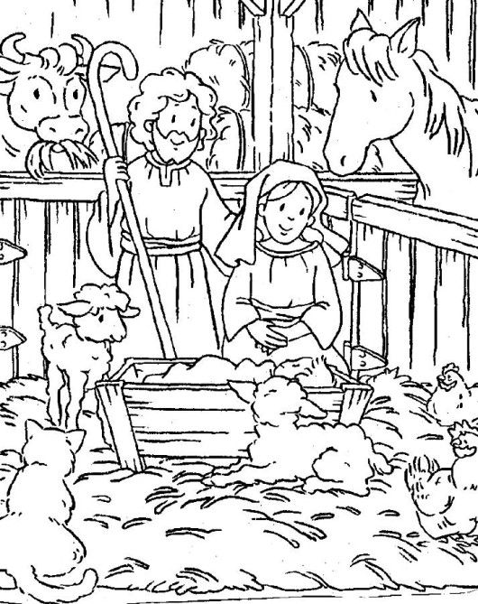 baby jesus christmas coloring pages printable  nativity
