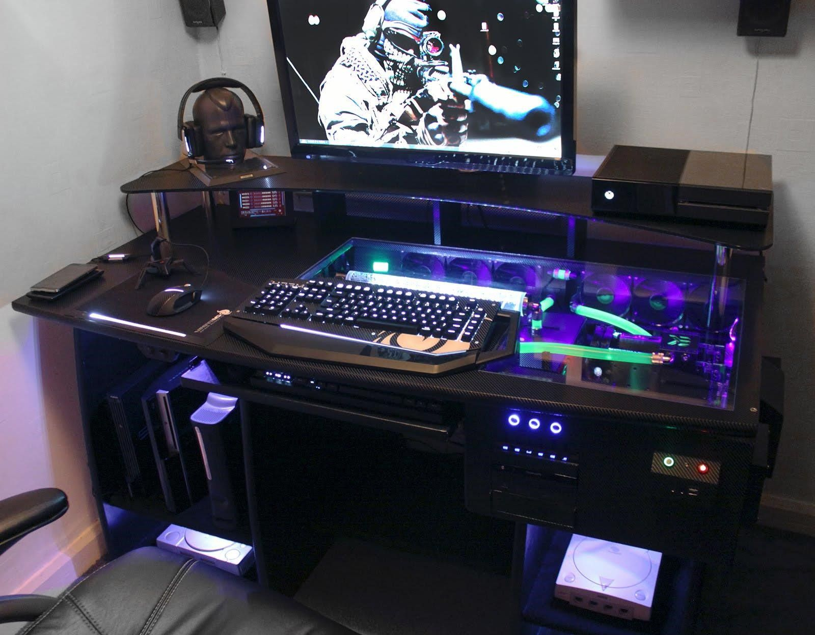 custom gaming computer desk Personal Space Pinterest