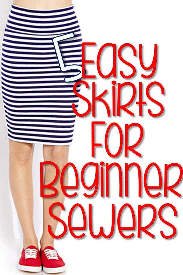 5 Easy Skirts for Beginner Sewers | You Put it Up | Nähen ganz ...