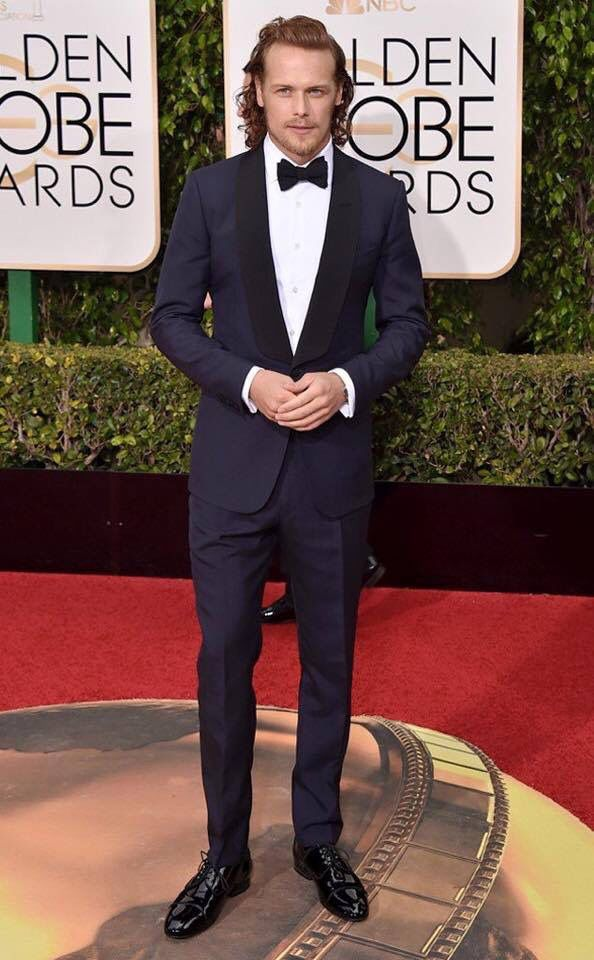 Sam Hueghan  2015 Golden Globes
