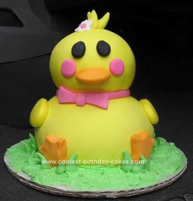 Coolest Ducky Birthday Cake Round cakes Birthday cakes and Homemade