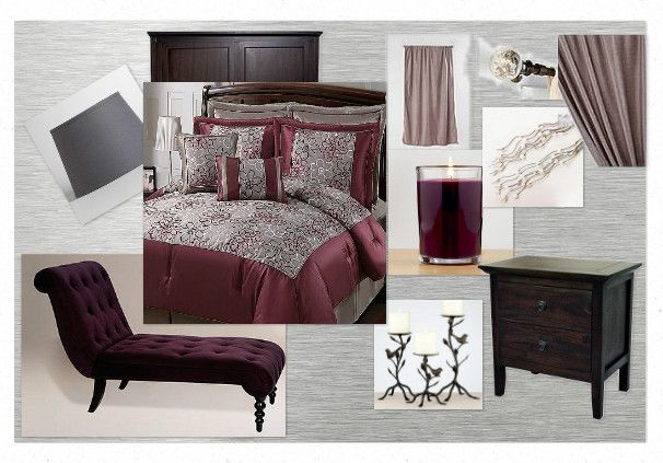 Best Burgundy And Silver Bedroom Love Fave Colour Decorating 640 x 480