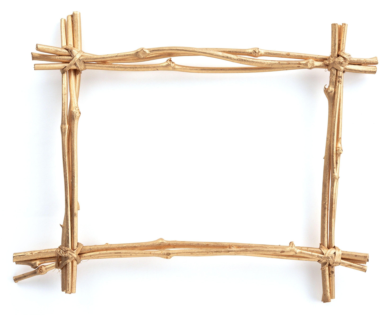 Picture Frame | Un marco para fotos hecho de bastones marrones ...