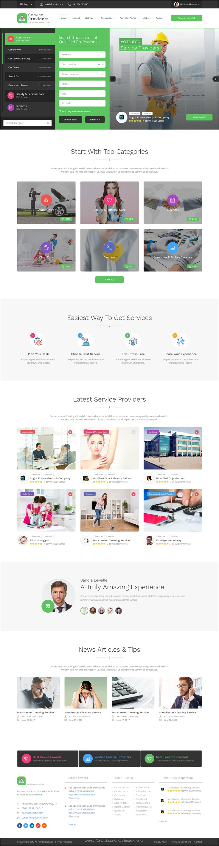 Service providers is a clean and contemporary design html service providers is a clean and contemporary design html bootstrap template for business directory listing website download now wajeb Choice Image