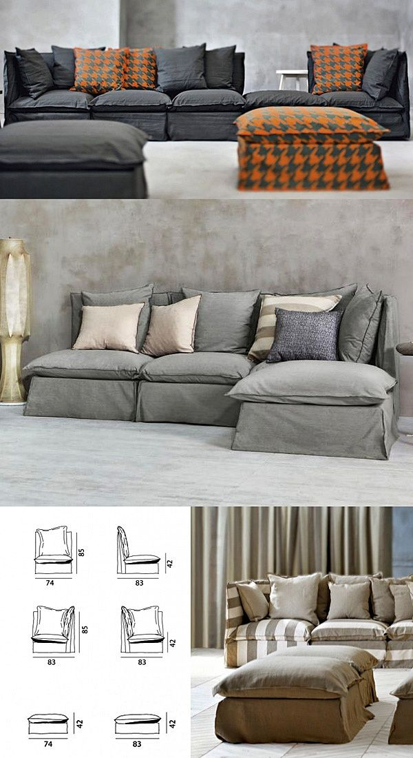 sectional sofas with removable slipcovers flexsteel como leather power reclining sofa gervasoni ghost | sofa, furniture ...