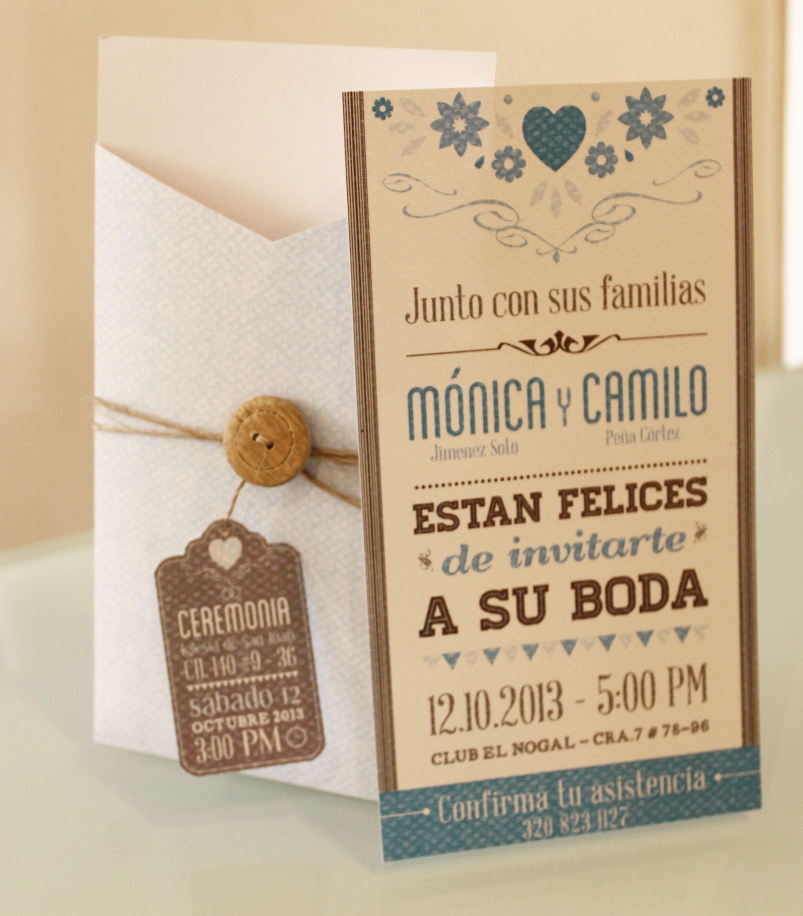Tarjeta para matrimonio text pinterest matrimonio - Modelos de tarjetas de boda ...