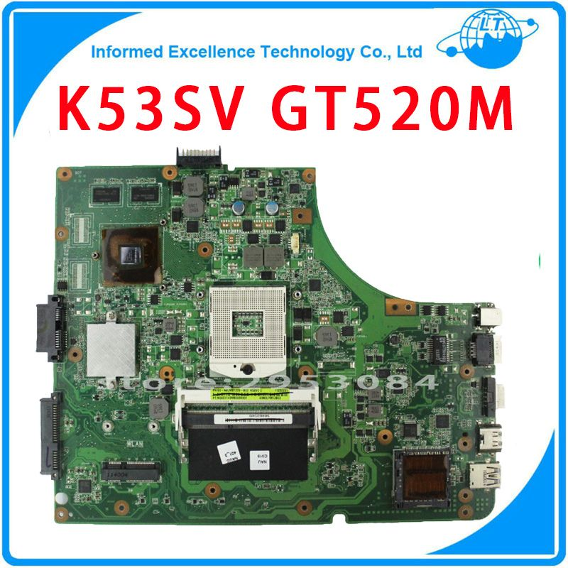 3.0 Mainboard GT520M For Asus X53S A53S K53SV Motherboard Laptop REV 3.1