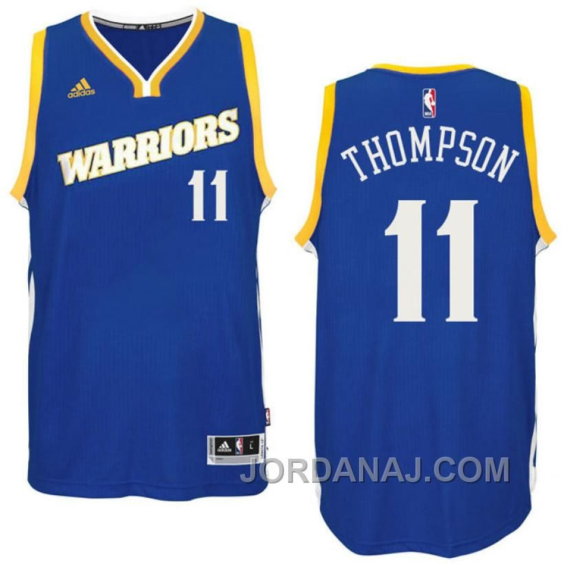 aec4b14d ... 2016 17 season golden state warriors 11 run tmc royal crossover  alternate swingman jersey klay thomp