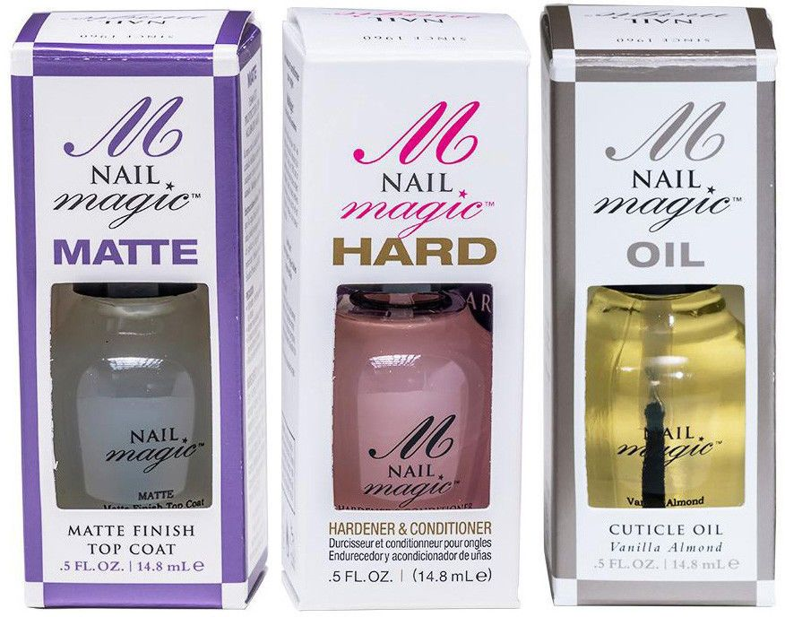 NAIL MAGIC Hardener Conditioner Strengthener Cuticle Oil Matte Top ...