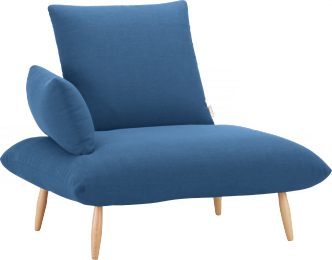 Naoko Chair (Blue). Innovative Naoko Chair With Removable Back And Arm  Cushions.