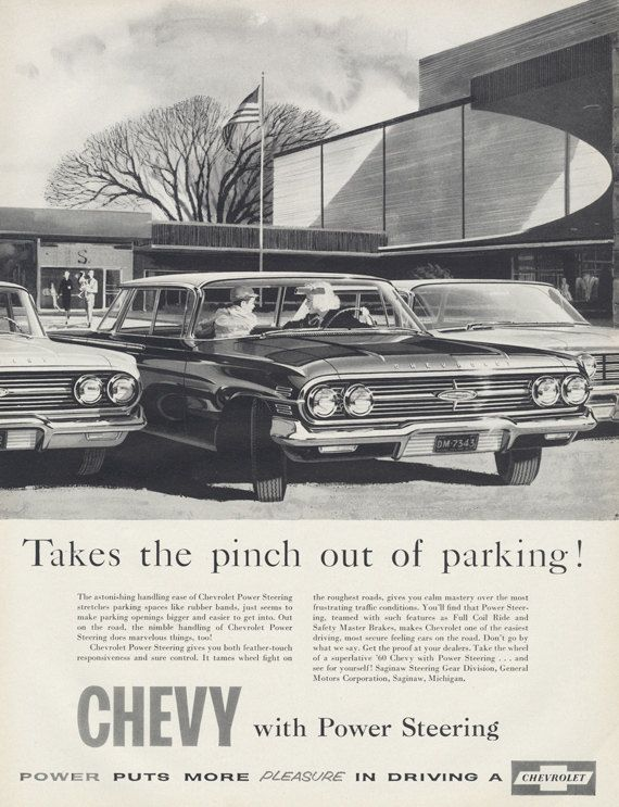 1960s Chevy Automobile Vintage Advertisement Garage Car