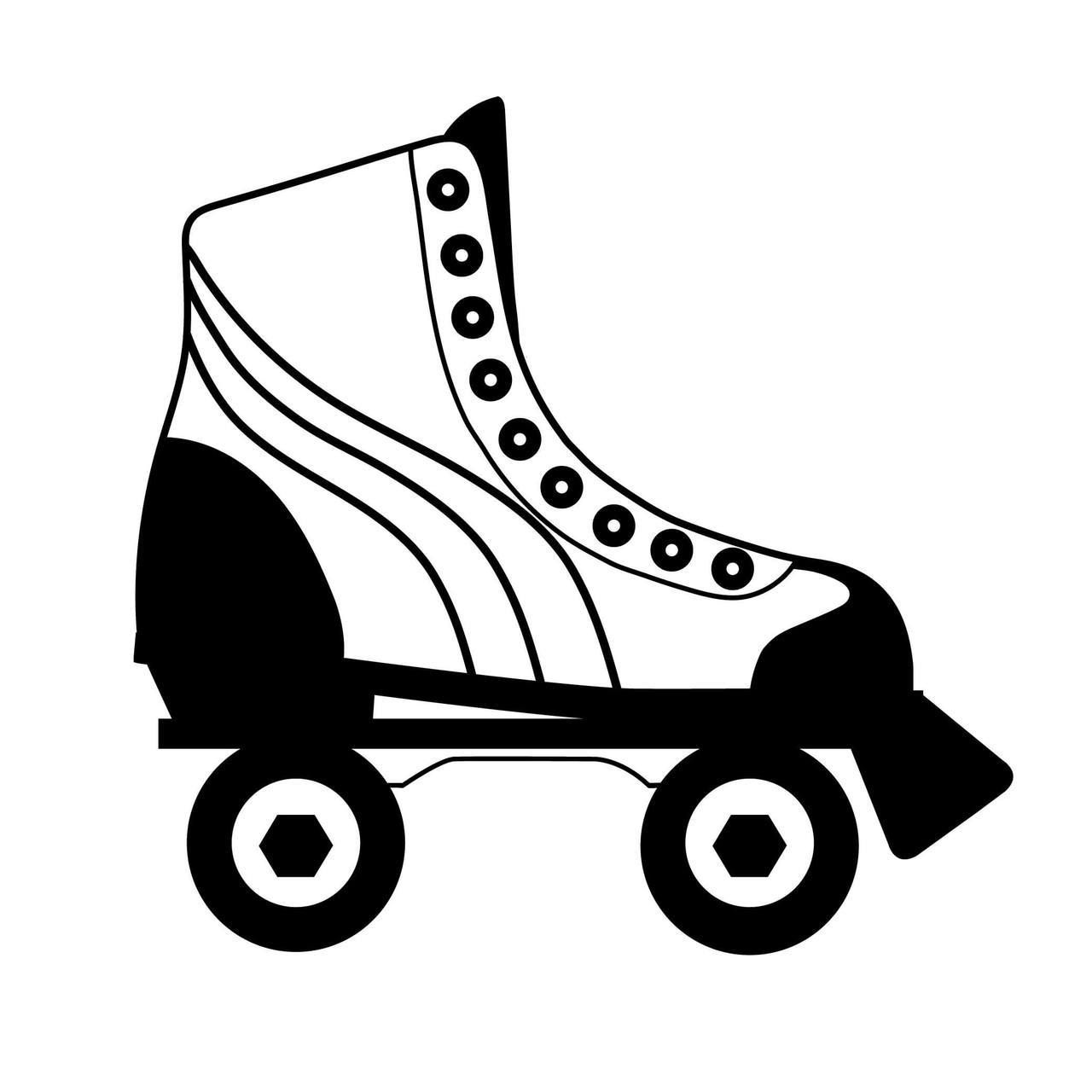 free roller skate svg cut file svg cut files for the silhouette cameo and cricut craftables fast shipping responsive customer service  [ 1280 x 1280 Pixel ]