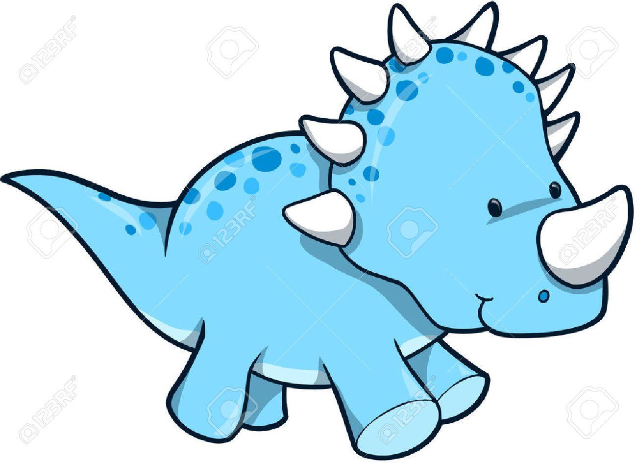 hight resolution of blue dinosaur vector illustration royalty free cliparts vectors