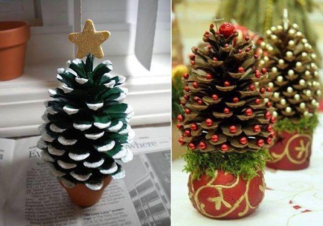 Mini Pinecones Christmas Trees Pine Cone Christmas Decorations Mini Christmas Tree Diy Diy Christmas Tree