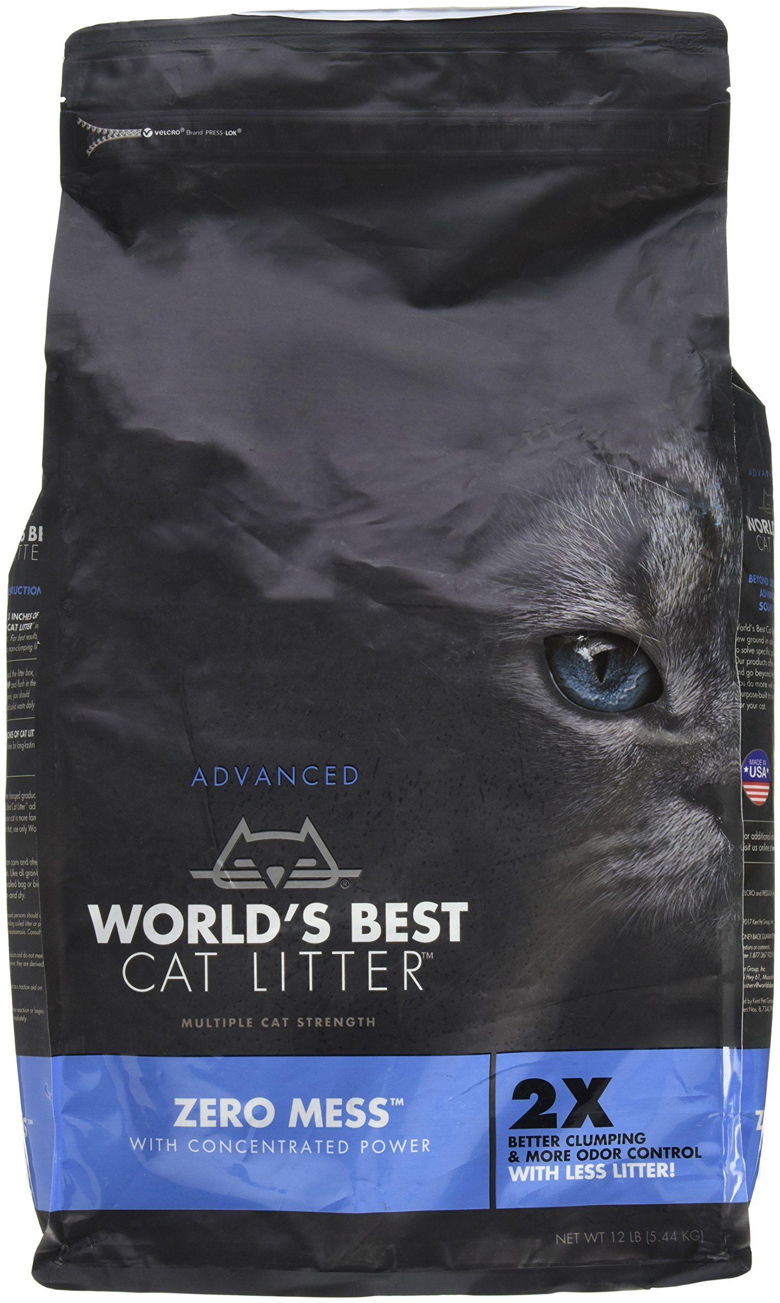 Worlds Best Zero Mess Advanced Cat Litter 12lb Read