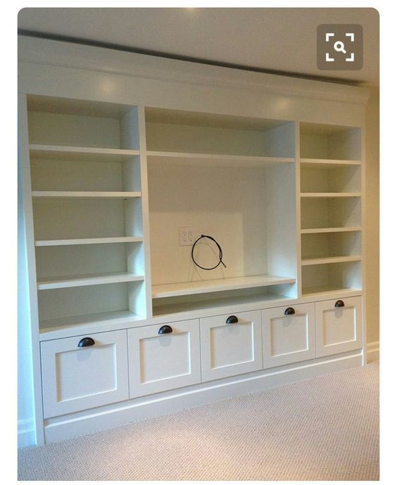 Living Room Built In Storage: Love This For The TV Wall: