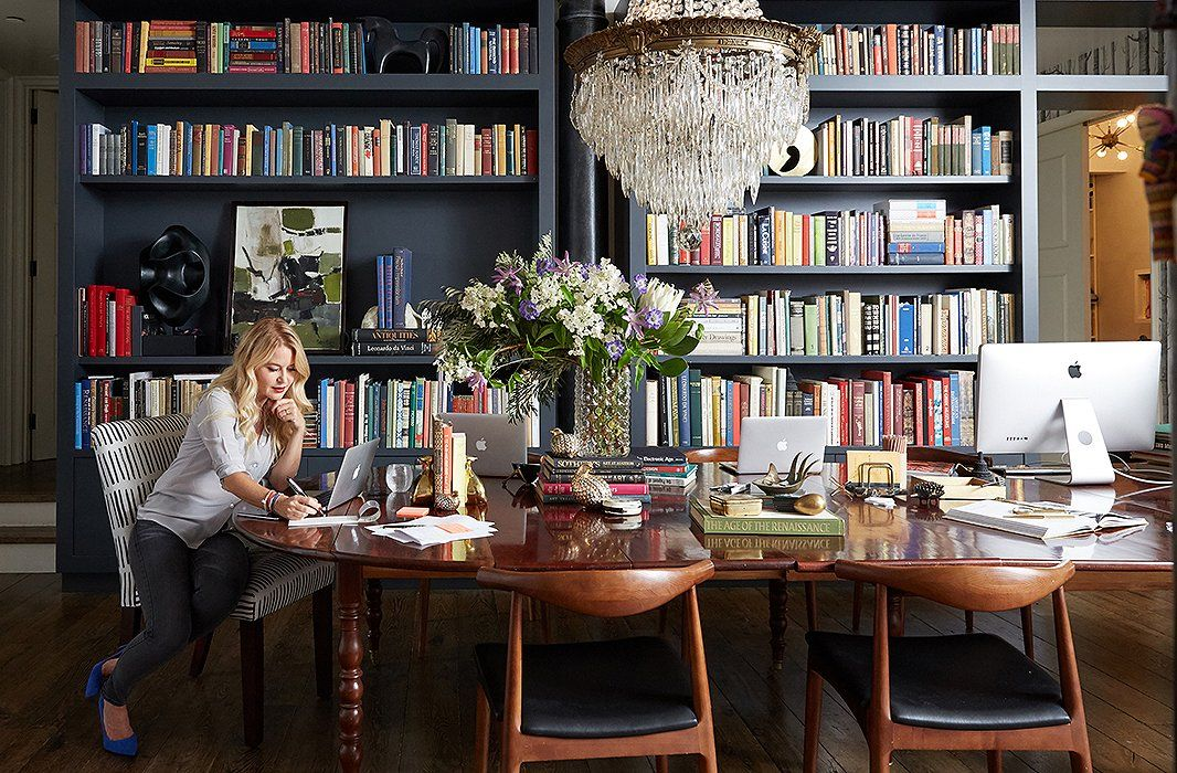 Christianes Dining Table Doubles As A Shared Desk For Her Cloth Company Team The