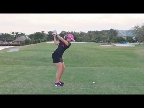 ▶ GOLF SWING 2012 - PAULA CREAMER DRIVER - DOWN THE LINE & SLOW MOTION - HQ 1080p HD - YouTube