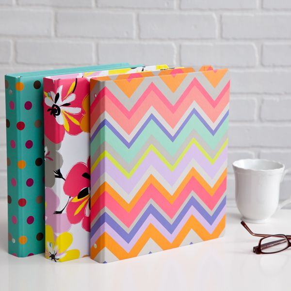 Colorful Binders Via Seejanework.com (With Images