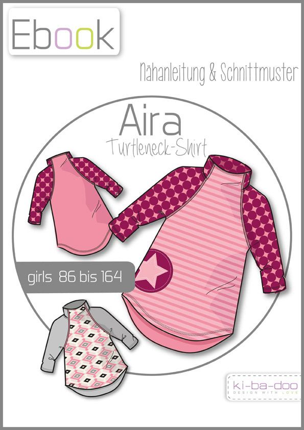 Ebook AIRA turtleneck Raglanshirt- Patterns and guidelines PDF, free ...
