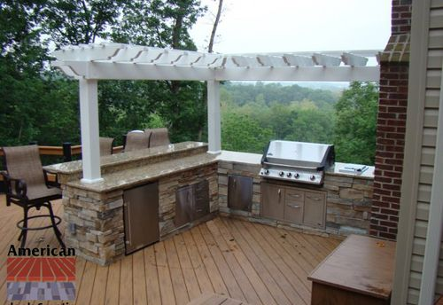 Outdoor Kitchens On Wood Decks Custom Outdoor Kitchen On Deck