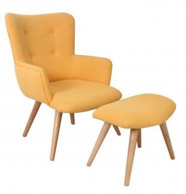fauteuil avec repose pieds stockholm sur jardindeco coloris vivifiant pour ce fauteuil scandinave et son - Fauteuil Scandinave Avec Repose Pied