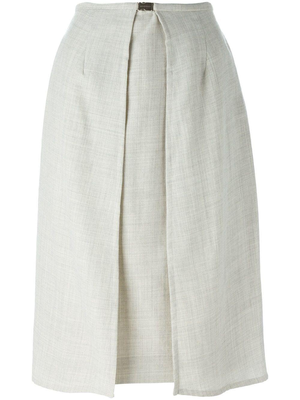 90fd95f5b0 Jean Louis Scherrer Pre-Owned panelled skirt - Grey in 2019 ...