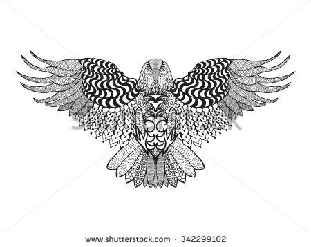 Image Result For Eagle Mandala Coloring Pages Crafty Eagle