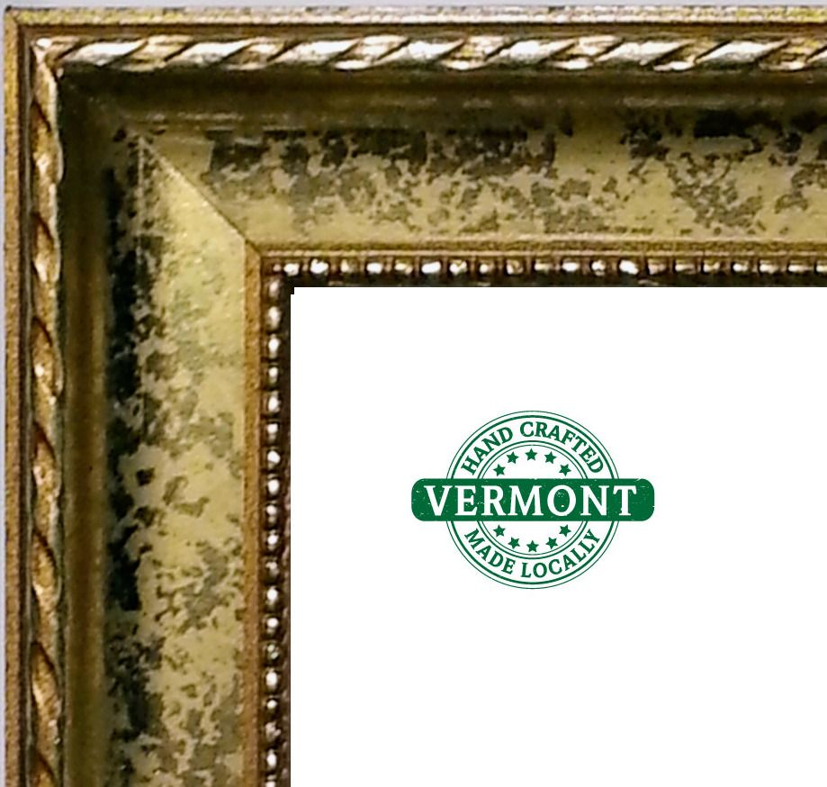 Ornate Gold Leaf Picture Frame Wood Scoop Rope Beaded Lip Made In Usa All Sizes Handmadeinvermont Gold Picture Frames Frame Picture Frames