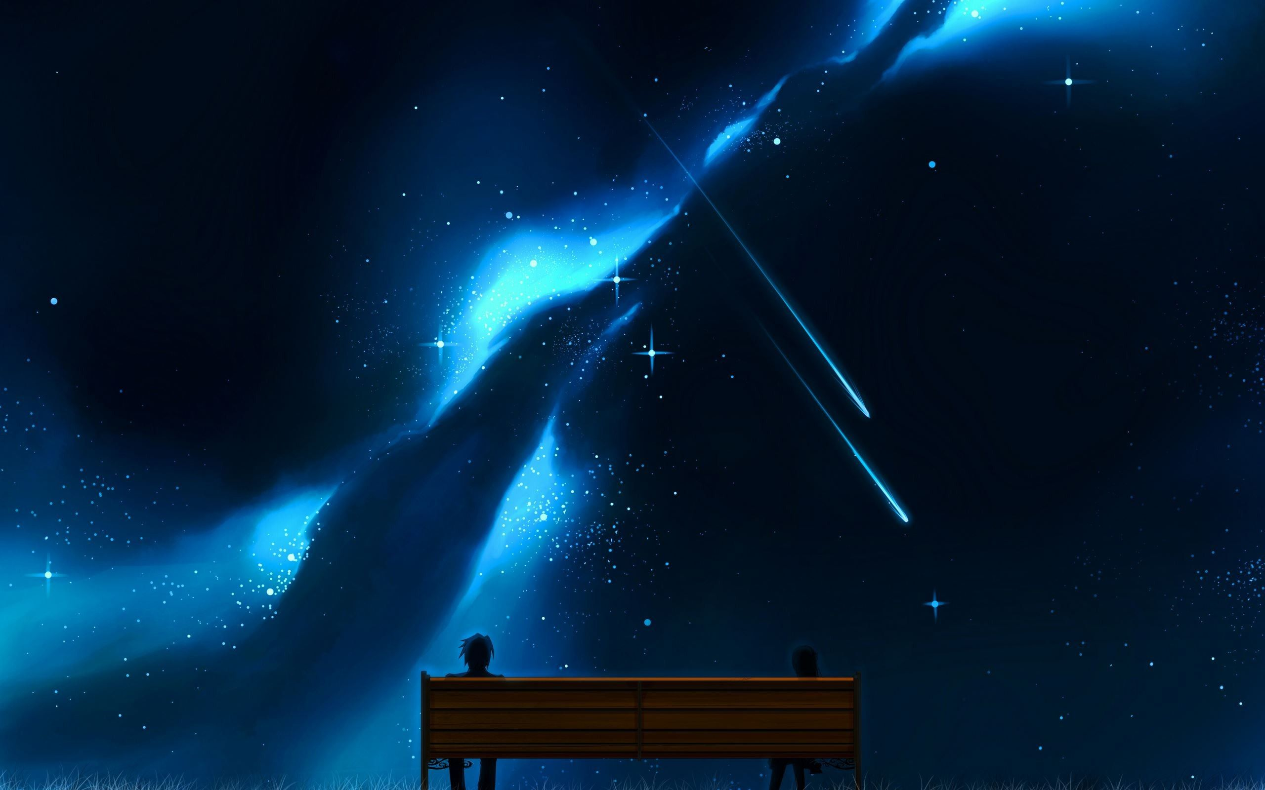 Shooting Stars, Bench 2560x1600 ImgPrix Fantastic art
