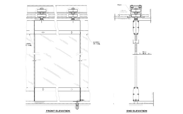 Movable Frameless Glass Partition Wall Accessories | Gibo ...