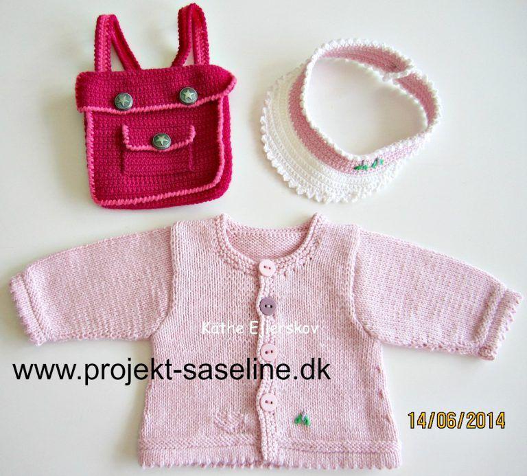 eb74f4137e8 Baby born opskrifter 43 cm. skolestart til dukken. skoletasken er hæklet og  trøjen er