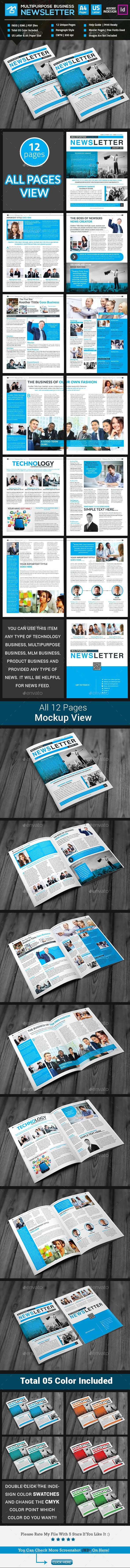 Multipurpose Business Newsletter Pages Pinterest Print - Pages newsletter templates
