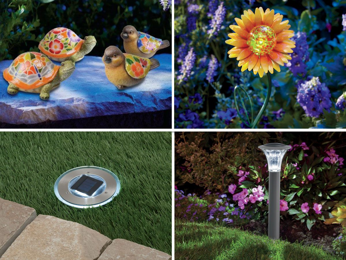 Brighten and enhance your garden with a decorative solar light. http://bit.ly/1R7jKyQ Which style do you prefer: A) figurines B) flowers C) path lights D) traditional
