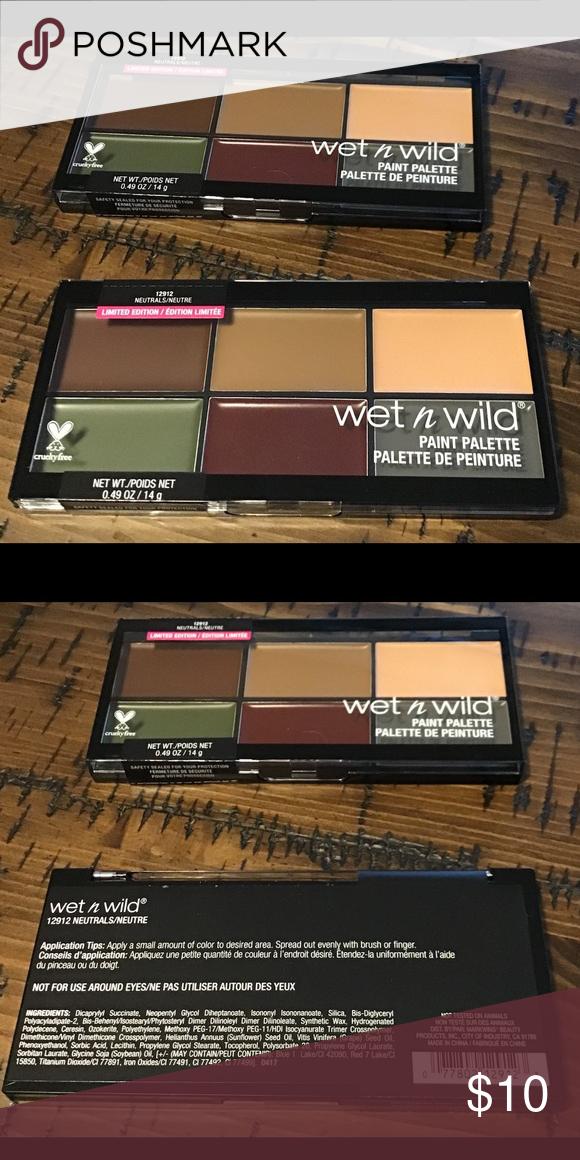 Wet n wild paint palette 12912 Face makeup cream color