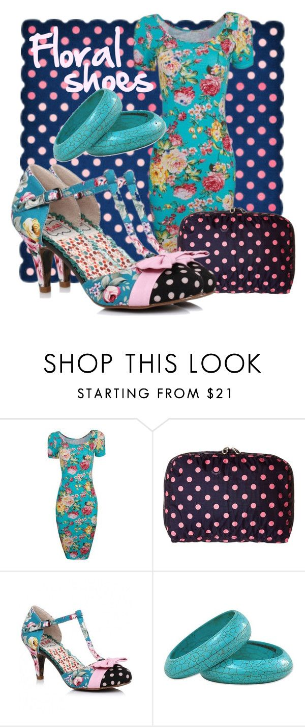 """""""Floral Shoes – With Spots!"""" by geewhizart ❤ liked on Polyvore"""