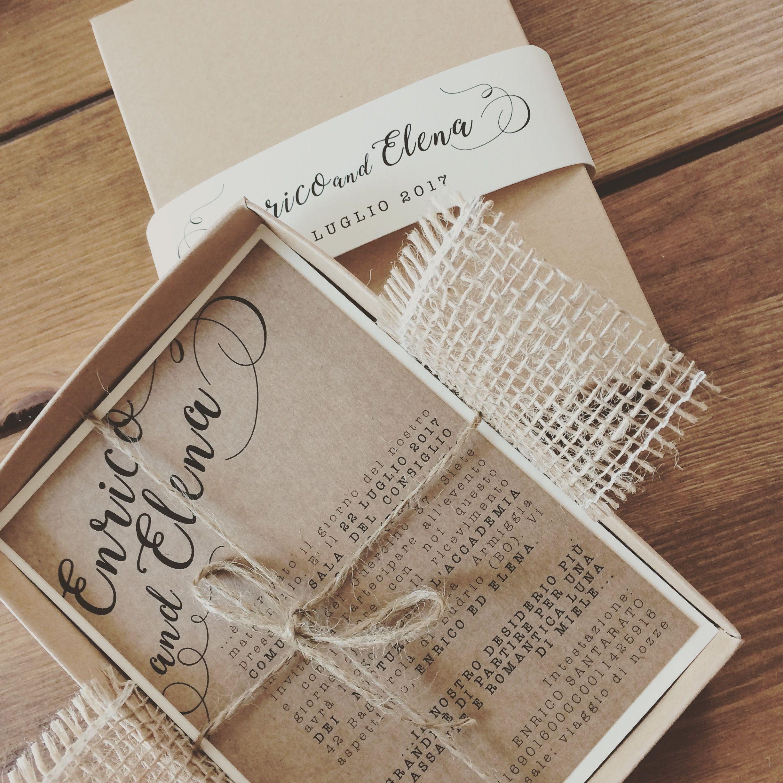 Partecipazioni Matrimonio Juta.Partecipazioni Matrimonio Con Iuta Wedding Invite Juta